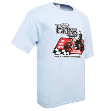 SoCal Bud Ekins TR6 T-shirt light blue