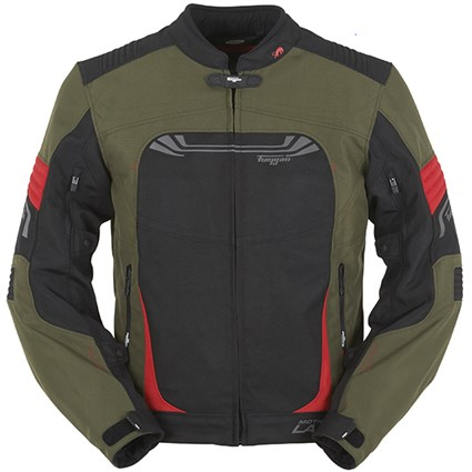 Furygan Digital Kaki jacket - Khaki/Black/Red