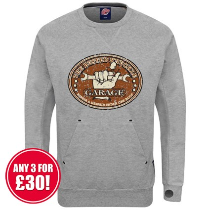 Retro Legends Busted Knuckle sweatshirt - grey