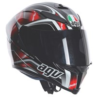 AGV K5 Hurricane helmet - white/red/black