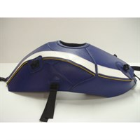 Bagster Tank cover YZF R1 - baltic blue / white / gold piping