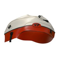 Bagster Tank cover V7 - white / red / anthracite stripe