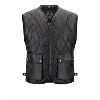 Belstaff Lambfell Quilted warmer  - Black