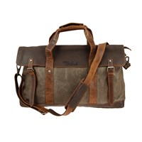 BSA Huntsman Full Grain Leather And Canvas Holdall