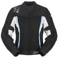 Furygan Lady Nina jacket black/white/blue
