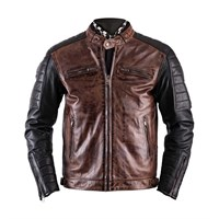 Helstons Cruiser Black and Camel Leather Jacket