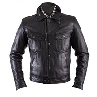 Helstons Cannonball Black Leather Jacket