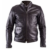 Helstons Fuel Dirt Track Black Leather Jacket