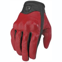 Icon Pursuit gloves - red