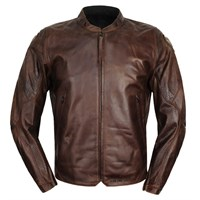 Icon Retrograde Brown Leather Jacket