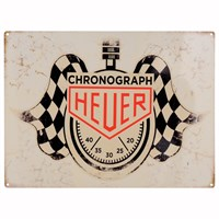 Retro Legends Heuer Metal Sign