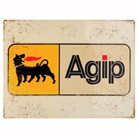 Retro Legends Agip Metal Sign