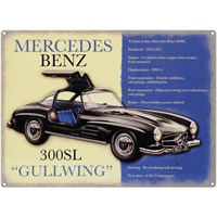 Mercedes Benz 300SL Gullwing metal sign
