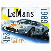 Le Mans 1969 Ford GT40 sign