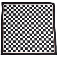 Monthlery Checkered Flag Silk Scarf