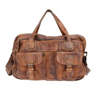 Norton Vintage Leather Zip bag - tan