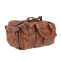 Norton Vintage Leather Duffel bag - tan