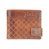 Norton Leather Quited Wallet - Tan