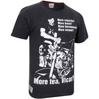 Red Torpedo Guy Martin More Tea Vicar T-Shirt - Black