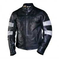 Roland Sands Ronin leather jacket black/smoke