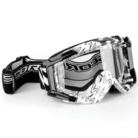 Scorpion goggles white/black