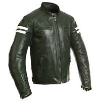 Segura Retro Leather Jacket - Khaki