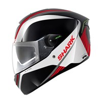 Shark Skwal Spinax helmet - white/red