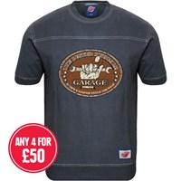 Retro Legends The Busted Knuckle Garage T-Sweat Blue