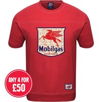 Retro Legends Mobilgas T-Sweat Red