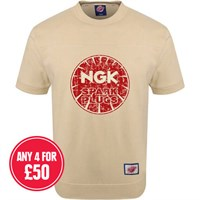 Retro Legends Ngk Spark Plugs T-Sweat Cream