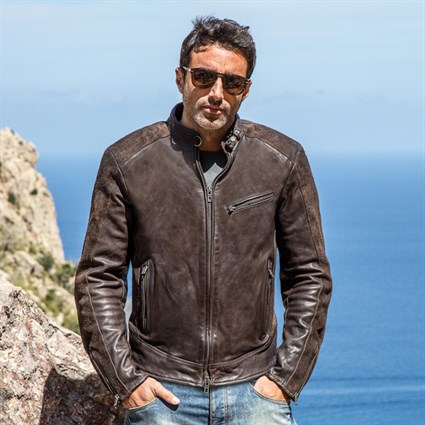Rokker Cafe Racer jacket - Brown