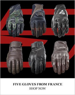 Five motorcycle gloves