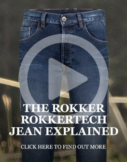 Rokker Rokkertech single layer motorcycle jeans explained