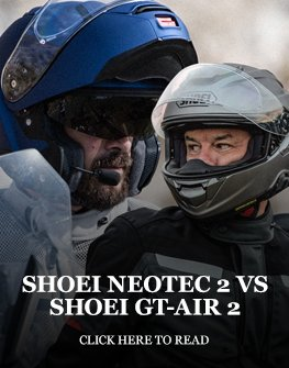 Shoei Neotec 2 helmet vs Shoei GT-Air 2 helmet