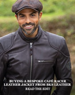 Buying a custom fitted BKS café racer leather jacket
