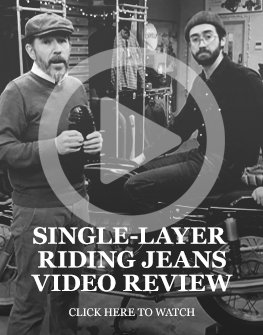 Single-layer motorcycle jeans video review