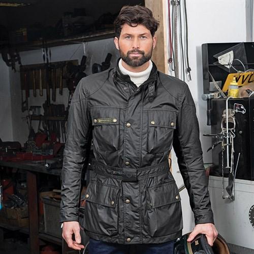 33d542de29 Belstaff Trialmaster 6oz wax cotton jacket in blackAlternative Image2