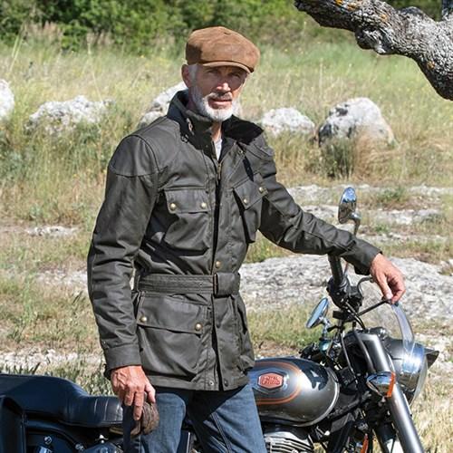 88d800c4f5 Belstaff Trialmaster Pro wax cotton jacket in olive greenAlternative Image1