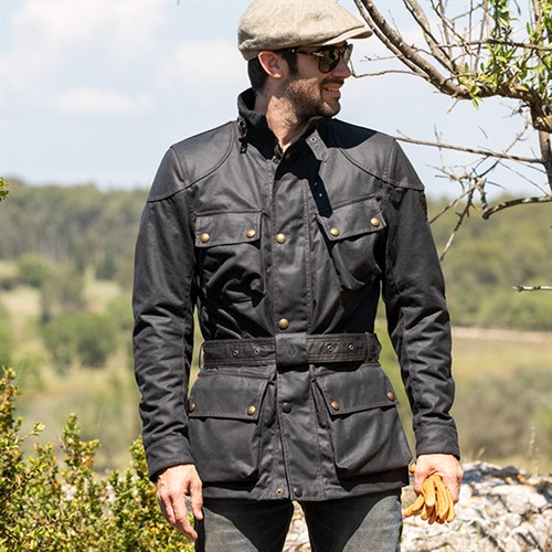 Belstaff Trialmaster Pro Wax Cotton Jacket In Black
