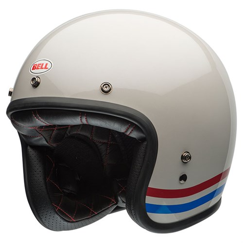 Bell Custom 500 Stripes helmet in white