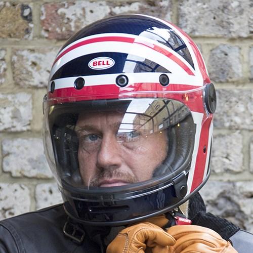 Bell Bullitt Carbon Spitfire Red HelmetAlternative Image2