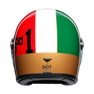 AGV X3000 Ago helmet in red / white / green Alternative Image1