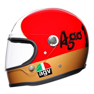 AGV X3000 Ago helmet in red / white / green Alternative Image2