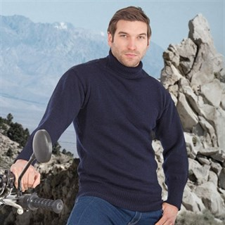 Submariner Windproof Rollneck Sweater in navy blueAlternative Image1