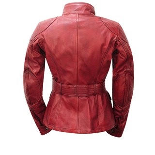 Belstaff Trialmaster ladies leather jacket in redAlternative Image1