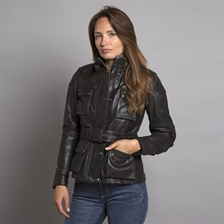 Belstaff Trialmaster ladies leather jacket in blackAlternative Image2