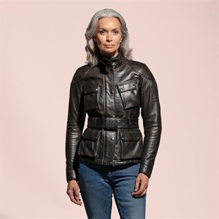 Belstaff Trialmaster ladies leather jacket in blackAlternative Image3