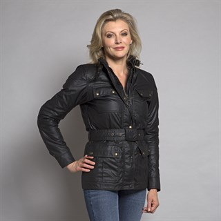 Belstaff Trialmaster wax cotton ladies jacket in blackAlternative Image2