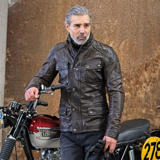 Belstaff Turner leather jacket in brown / blackAlternative Image1