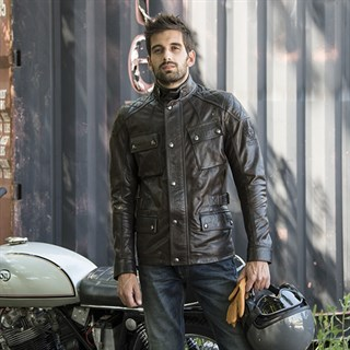 Belstaff Turner leather jacket in brown / blackAlternative Image2
